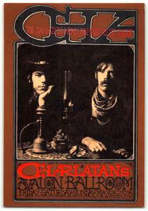 FD 63 Charlatans Blue Cheer Poster Original 1st Print Avalon Ballroom 1967