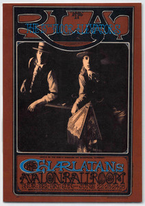 FD 67 Charlatans 13th Floor Elevators Poster 2nd Print Avalon Ballroom 1967