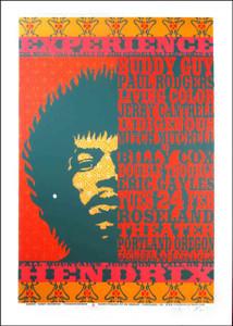 Jimi Hendrix Poster Tribute Buddy Guy Signed Ltd Silkscreen by Gary Houston