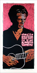 Charlie Sexton Poster Original Limited Ed Signed Silkscreen by Gary Houston