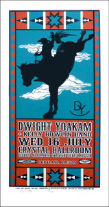 Dwight Yoakam Poster Original Limited Ed Signed Silkscreen by Gary Houston