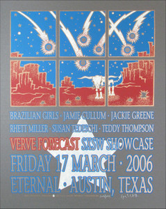 Jackie Greene Verve SXSW Showcase Poster Signed Silkscreen by Gary Houston