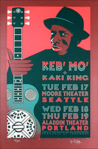 Keb' Mo' Original Limited Edition Signed Silkscreen by Gary Houston
