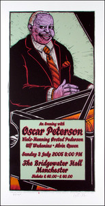 Oscar Peterson Original Limited Edition Signed Silkscreen by Gary Houston