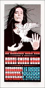 Patti Smith Band Crystal Ballroom Signed Silkscreen Poster by Gary Houston