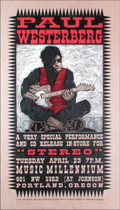 Paul Westerberg at Music Millenium Signed Silkscreen Poster by Gary Houston