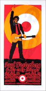 Paul Westerberg Poster His Only Friends Signed Silkscreen Gary Houston