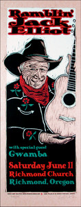 Ramblin' Jack Elliott Original Signed Silkscreen Poster by Gary Houston