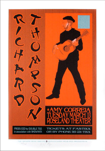 Richard Thompson Amy Corriea Signed Silkscreen Poster by Gary Houston