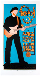Richard Thompson Christy McWilson Signed Silkscreen Poster by Gary Houston