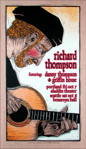 Richard Thompson Griffin House Signed Silkscreen Poster by Gary Houston