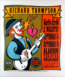 Richard Thompson, Martin Sexton Signed Silkscreen Poster by Gary Houston
