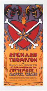 Richard Thompson Dayna Kurtz Signed Silkscreen Poster by Gary Houston