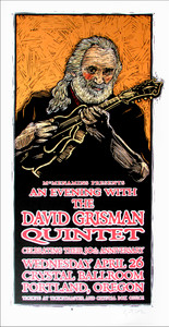 David Grisman Quintet Poster Original Signed Silkscreen by Gary Houston