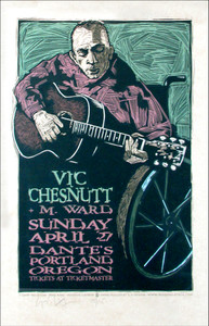 Vic Chestnutt Dante's Signed Silkscreen Poster by Gary Houston