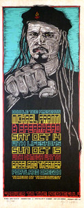Michael Franti & Spearhead Poster Original Signed Silkscreen by Gary Housto