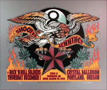 Shooter Jennings Poster Original Signed Silkscreen by Gary Houston 2005