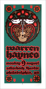 Warren Haynes Poster Original Signed Silkscreen by Gary Houston 2004