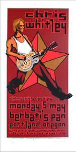 Chris Whitley Poster Gus Black Berbati's Pan Signed Silkscreen Gary Houston