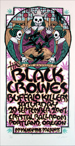 Black Crowes Portland Signed Silkscreen Poster by Gary Houston 2007