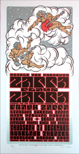 Zappa Plays Zappa Roseland Portland Signed Silkscreen Poster Gary Houston