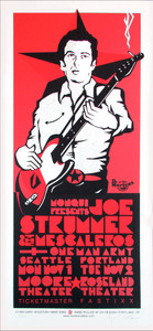 Joe Strummer Seattle Portland Signed Silkscreen Poster by Gary Houston