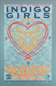 Indigo Girls Poster Champoeg State Park Signed Silkscreen by Gary Houston