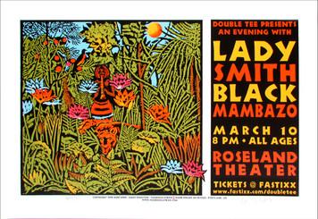 Lady Smith Black Mambazo Original Signed Silkscreen Poster by Gary Houston