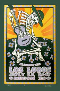 Los Lobos Poster Oregon Zoo 2007 Original Silkscreen SN 135 by Gary Houston