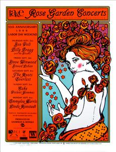 Rose Garden Poster Emmylou Linda Cake Signed Silkscreen by Gary Houston