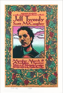 Jeff Tweedy Poster 2001 Wilco Original Signed Silkscreen by Gary Houston