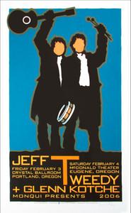 Jeff Tweedy Poster Glenn Kotche Wilco Signed Silkscreen Gary Houston 2006