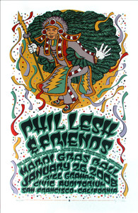 Phil Lesh & Friends Poster Mardi Gras Ball San Francisco 2008 Gary Houston