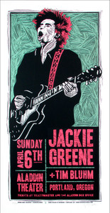 Jackie Greene Tim Blume Original Signed Silkscreen Poster by Gary Houston