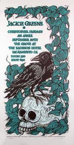 Jackie Greene Poster Christopher Fairman Original Silkscreen by Gary Housto