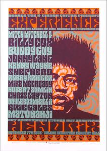 Experience Hendrix Jimi Poster Buddy Guy Mitch Mitchell Signed Gary Houston