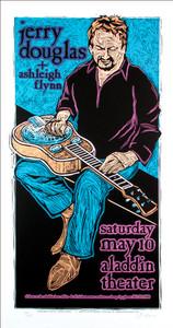 Jerry Douglas Poster w Ashley Flynn '08 Signed Silkscreen SN Gary Houston