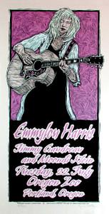 Emmylou Harris Poster Original Signed Silkscreen by Gary Houston 2008