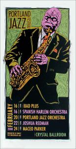 Portland Jazz Fest Poster Maceo Parker Joshua Redman Signed Silkscreen Gary Houston 2008