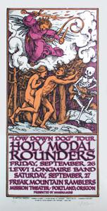 Holy Modal Rounders Poster Original Signed Silkscreen Gary Houston