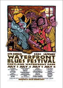Waterfront Blues Festival 2003 Original Signed Silkscreen Concert Poster