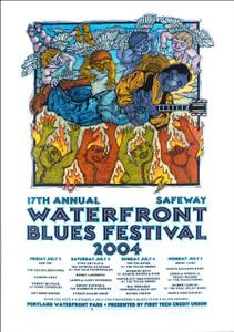 Waterfront Blues Festival 2004 Original Signed Silkscreen Concert Poster