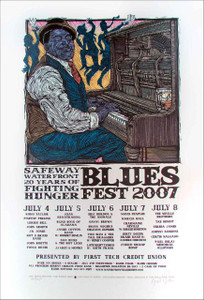 Waterfront Blues Festival Poster Portland Orig 2007 SN 225 by Gary Houston