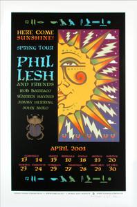 Phil Lesh Tour Poster 2001 Warren Haynes Signed Silkscreen Gary Houston