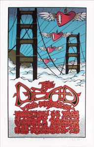 Dead & Friends Poster 2003 Valentine Original Silkscreen Gary Houston
