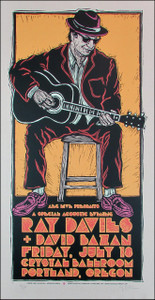 Ray Davies Poster Original Signed Silkscreen by Gary Houston