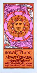 Robert Plant Allison Krauss Poster B Original Signed Silkscreen Gary Housto