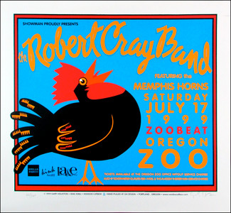 Robert Cray Band Poster Original Signed Silkscreen by Gary Houston