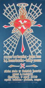 X Exene, John, DJ,  Original Signed Silkscreen Concert Poster by Gary Houst