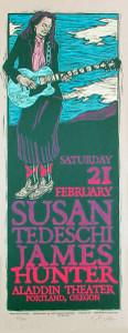 Susan Tedeschi Original Signed Silkscreen Concert Poster by Gary Houston